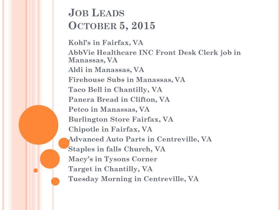 jobs leads
