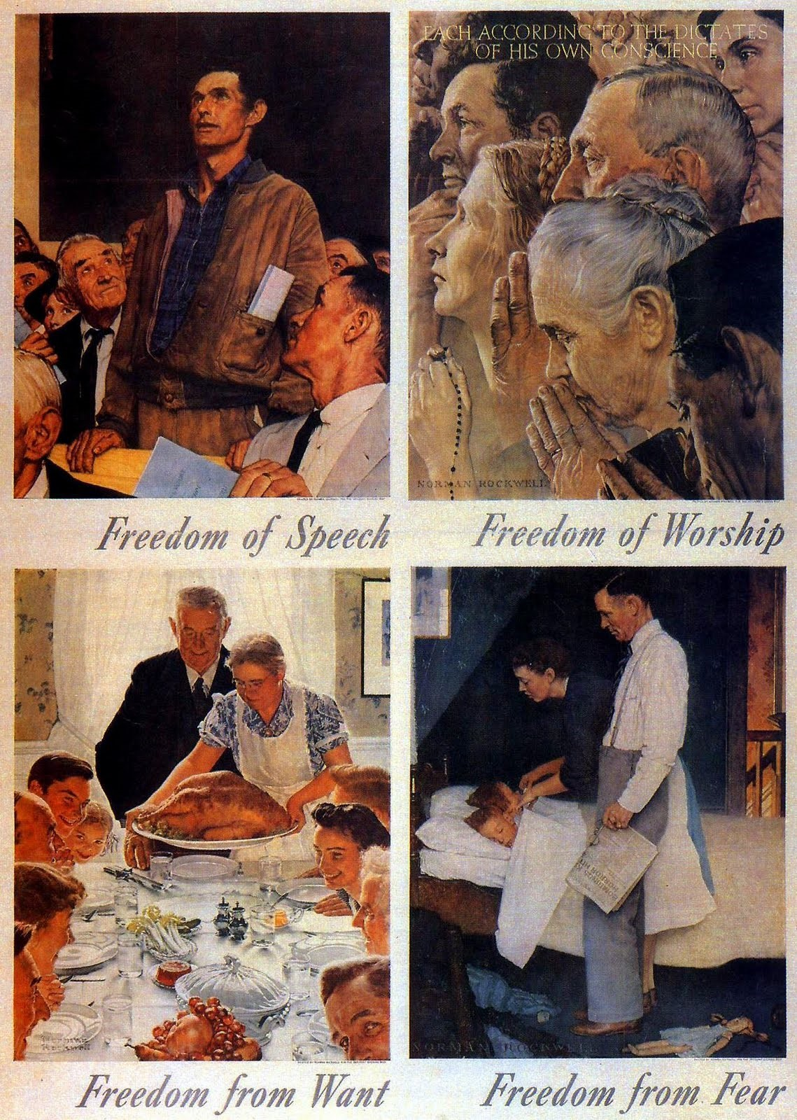 "franklin d roosevelt and the four freedoms speech Us president franklin roosevelt's ""four freedoms"" speech, delivered in january 1941, is widely seen as a landmark statement of american foreign policy roosevelt's purpose was to rally a skeptical us congress and public to the coming war against the axis powers and their ""new order of tyranny"" by offering a lofty."