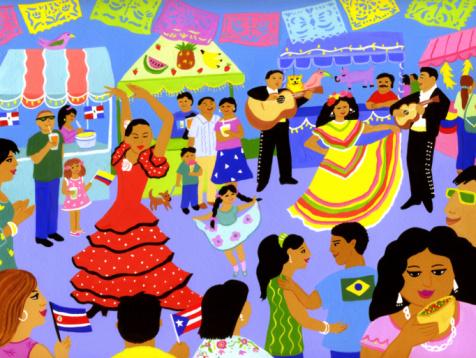 A Latin American street festival