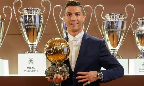 Cristiano Ronaldo wins for the fourth time