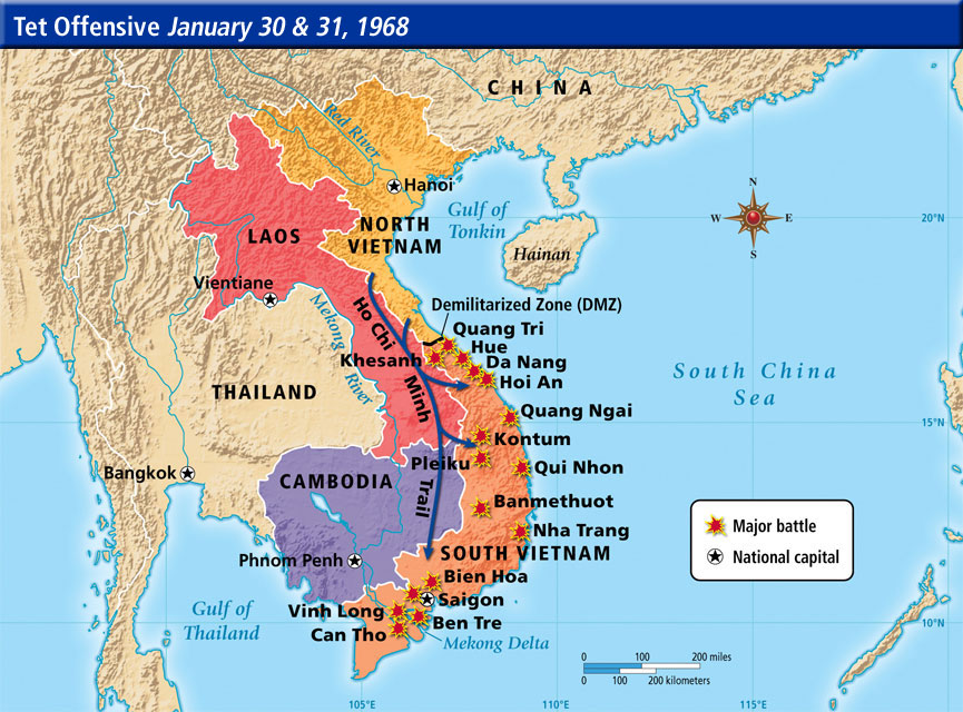 Image result for vietnam war map