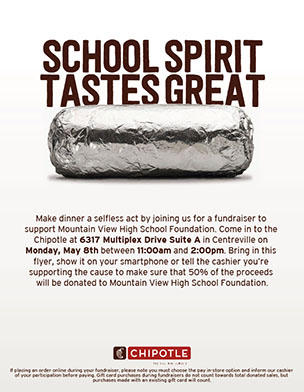 Chipotle Fundraiser May 8th