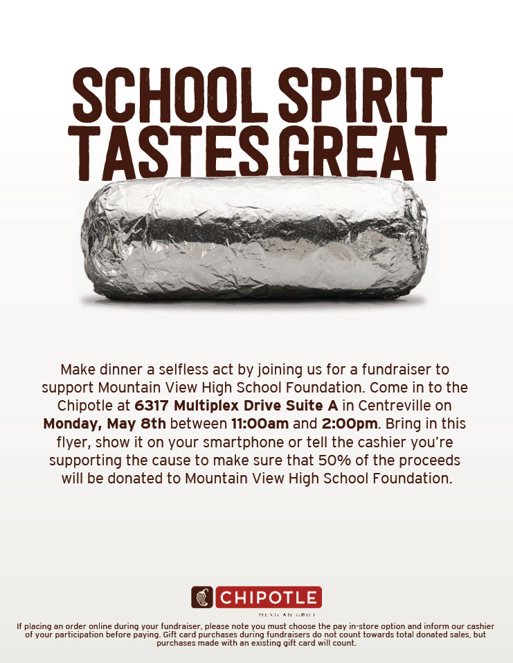 MVHS-Chipotle Fundraiser