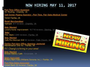 Now Hiring April 7, 2017