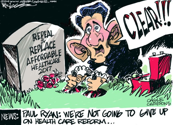 Image result for American Health Care Act GOP Political cartoon