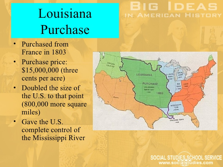1803 louisiana purchase The louisiana purchase was the largest real estate deal in history and one of the most important achievements of the jefferson administration in 1803 the us government bought 828,000 [.