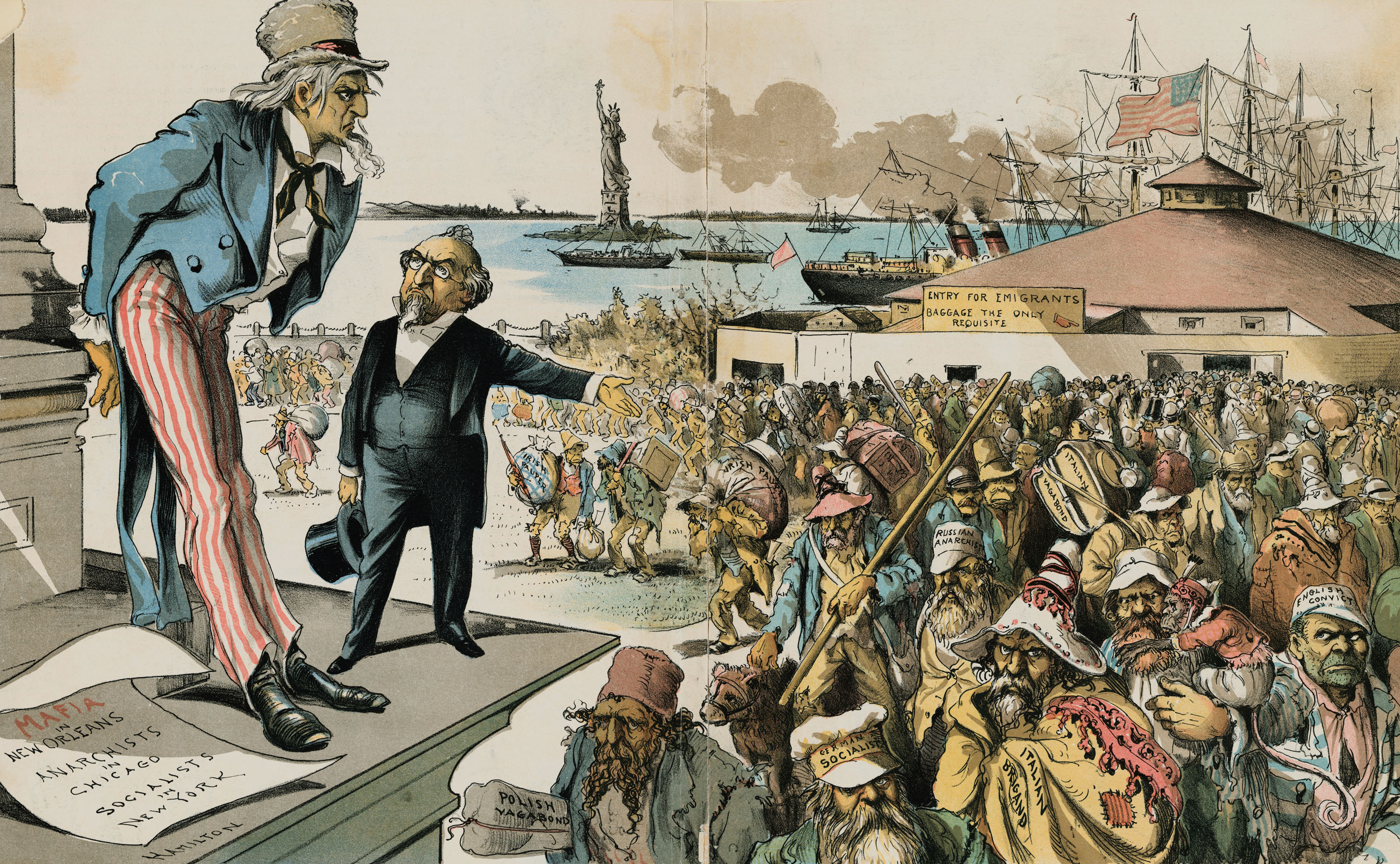 america as an immigrant consumer and democratic nation