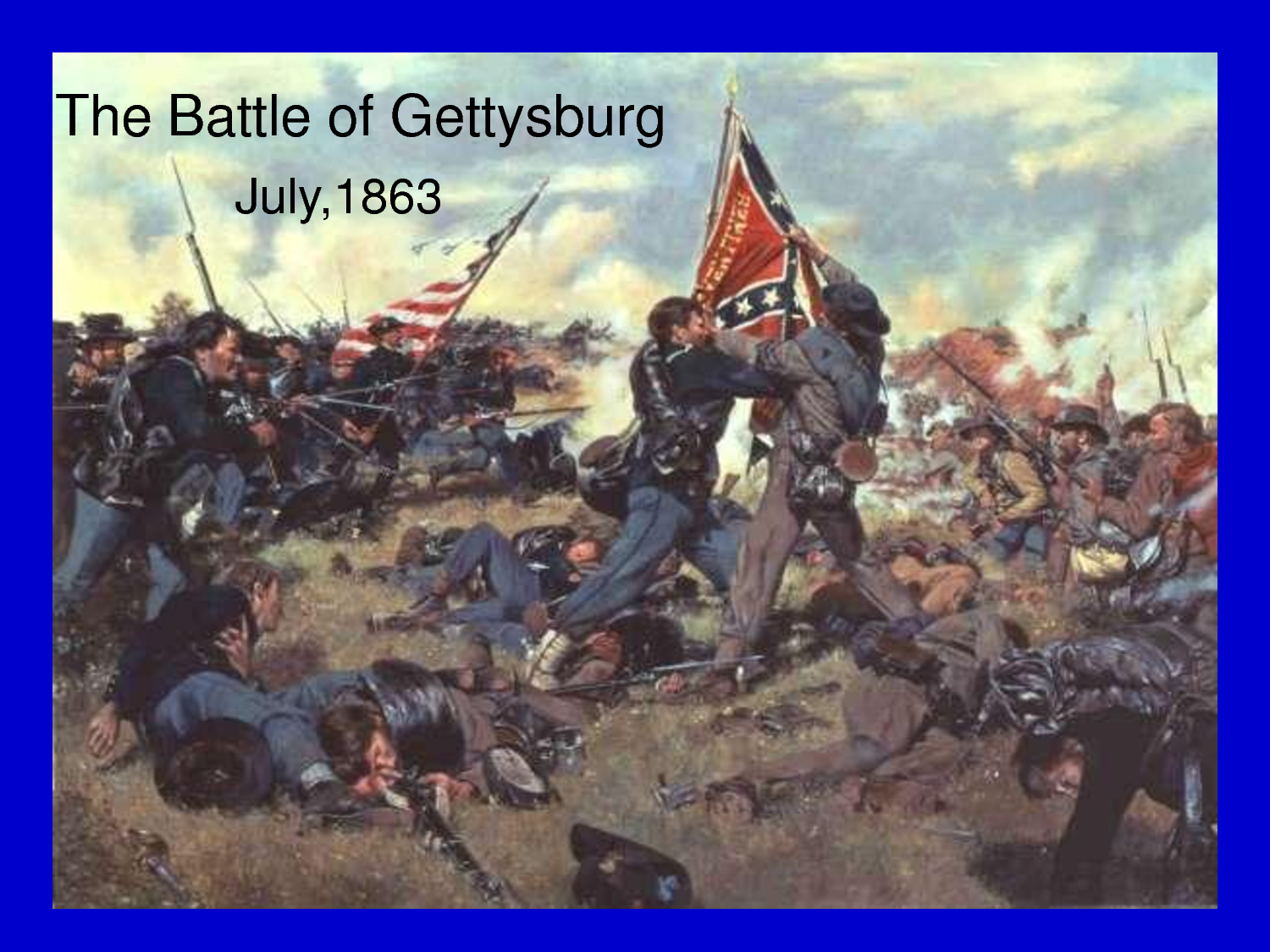the events of the battle of gettysburg The first day of the battle of gettysburg during the american civil war took place on  there are three main versions of events extant  the gettysburg companion.