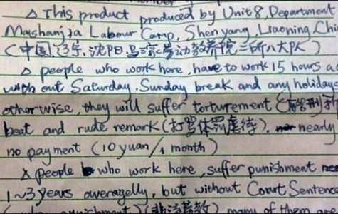 Chinese labor camp inmate tells of true horror of Halloween 'SOS'