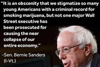 Bernie Sanders a fan of Marijuana?