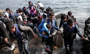 The Gaurdian reports on refugees landing on the shores of Greek Islands like Lesbos in order to seek entrance into the European Union this past Fall.
