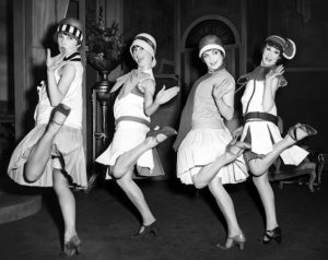 These women were known as flappers, young western women who listened to jazz and were active in the night city life