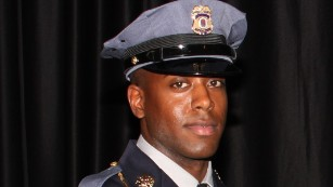 Heroic Officer dies tragically from a police bullet in a senseless act of violence.