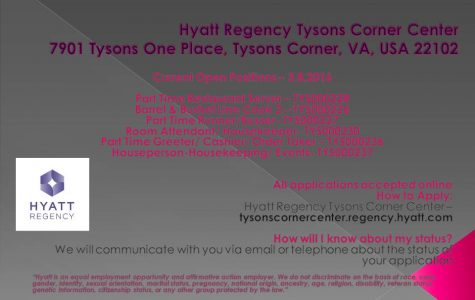 NOW Hiring at Tyson's Hyatt