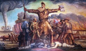 """""""The Tragic Prelude"""" - here John Brown is shown as an American prophet willing to sacrifice for the truth and face the coming storm."""