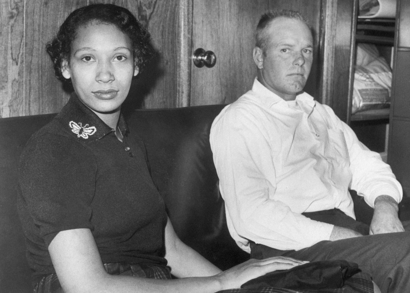09 Jan 1965, Washington, DC, USA --- Mr. and Mrs. Richard Perry Loving, an interracial couple, fight Virginia's law against interracial marriages.