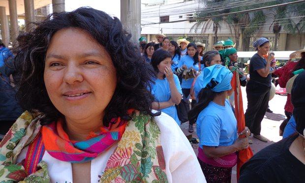 Berta Cáceres, Honduran human rights and environment activist, murdered.