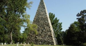 This monument was built in memory of all of the confederate soldiers, who fought and died during the Civil War.