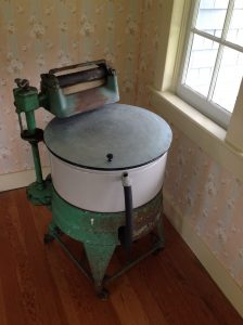 This 1930s era washing machine was state of the art luxury from Sears. It is the original preserved in the Spindle house today.