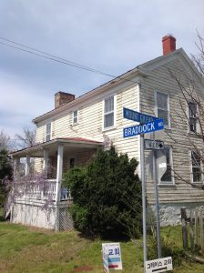 The Harrison House stands adjacent from the 18th century Newgate Tavern site on the historic route of Braddock road.
