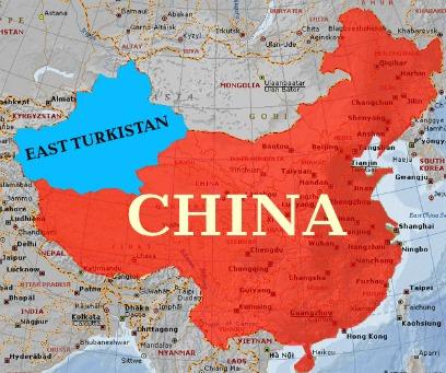 Risultato immagini per east turkestan map
