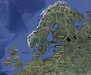 Norway is located in Northwest Europe in a region known as Scandanavia.