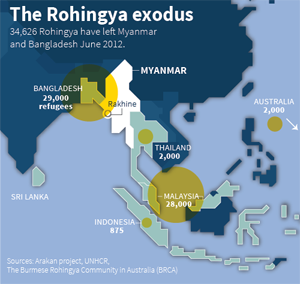 Image result for Rohingya people map