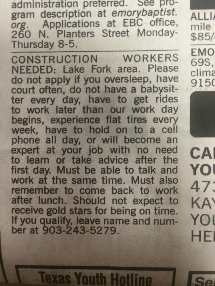 Have Employers Gone Crazy?
