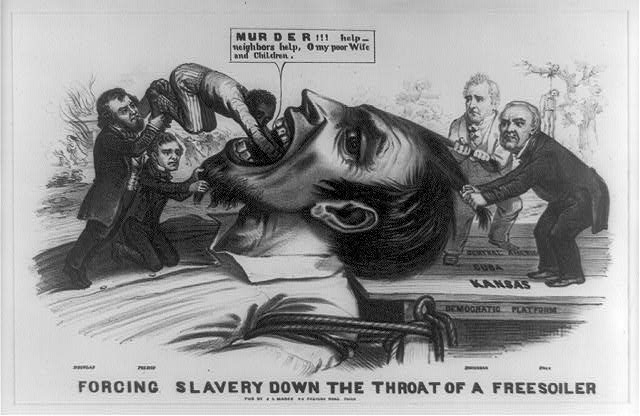 Image result for states rights cartoon civil war