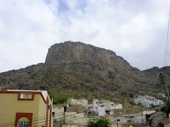 The Mountain of Light (Jabal al-Nūr), near Mecca, Saudi Arabia, where Muhammad experienced the presence of the archangel Gabriel and the process of the Qurʾānic revelation began.