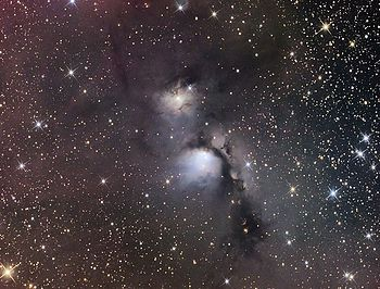 Interstellar dust clouds in constellation of Orion