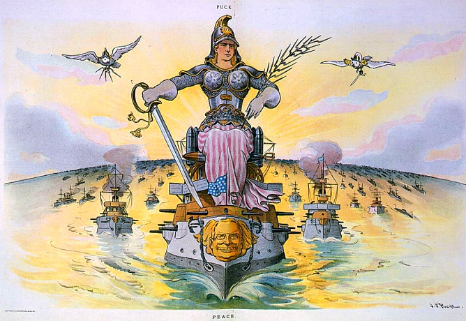 Image result for The Great White Fleet political cartoon