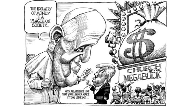 Image result for Trump and the Poor Political cartoon