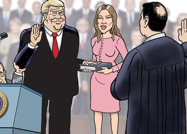 These Trump inauguration cartoons perfectly capture this year's political absurdities