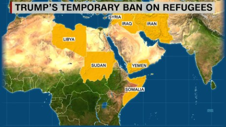 Image result for Trump's travel ban countries
