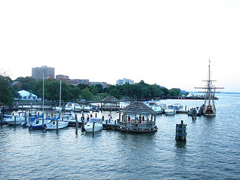 Alexandria's Waterfront,, seen from the Potomac River.  wikipedia