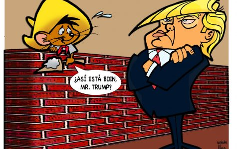 The White House is using money to build the wall that will end NAFTA.