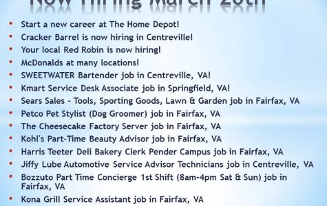 Now Hiring March 20, 2017