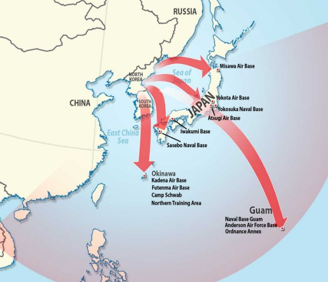 Image result for China  North Korea missiles map