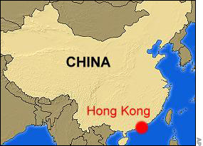 Image result for hong kong on map
