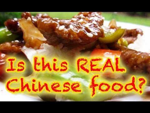American style Chinese food