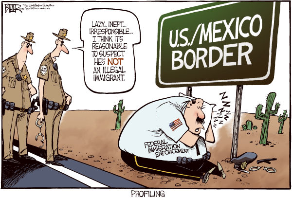 Image result for Political Cartoon ICE and immigration raids
