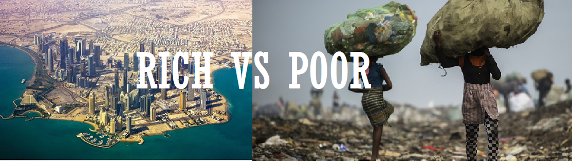 One World How Can You Help Mountain View Mirror - Rich and poor countries