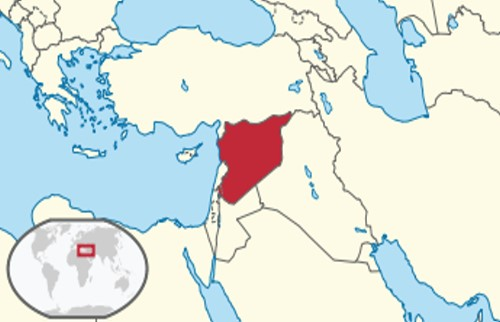 Image result for syria world map