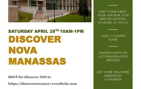 Discover NOVA – Saturday, April 29 – Manassas Campus