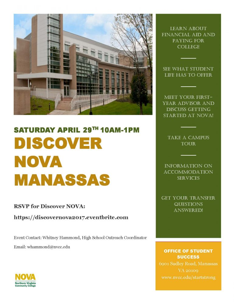 Discover+NOVA+-+Saturday%2C+April+29+-+Manassas+Campus