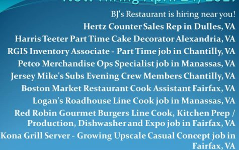 Now Hiring April 24, 2017