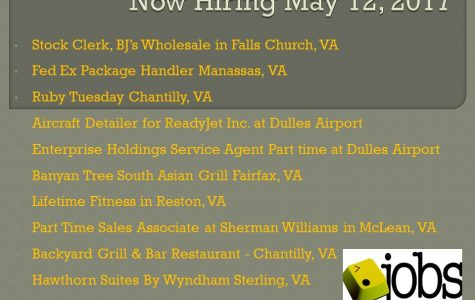 Now Hiring May 12, 2017