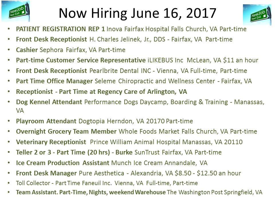 Now Hiring June 16, 2017