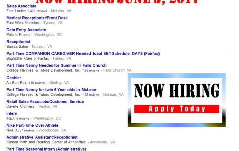 Now Hiring June 5, 2017